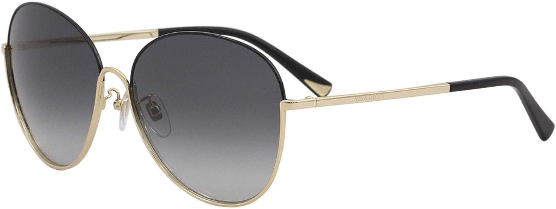 8010441258 Sunglasses Nina Ricci SNR 061 Black Gold 301 at Amazon Men s ...