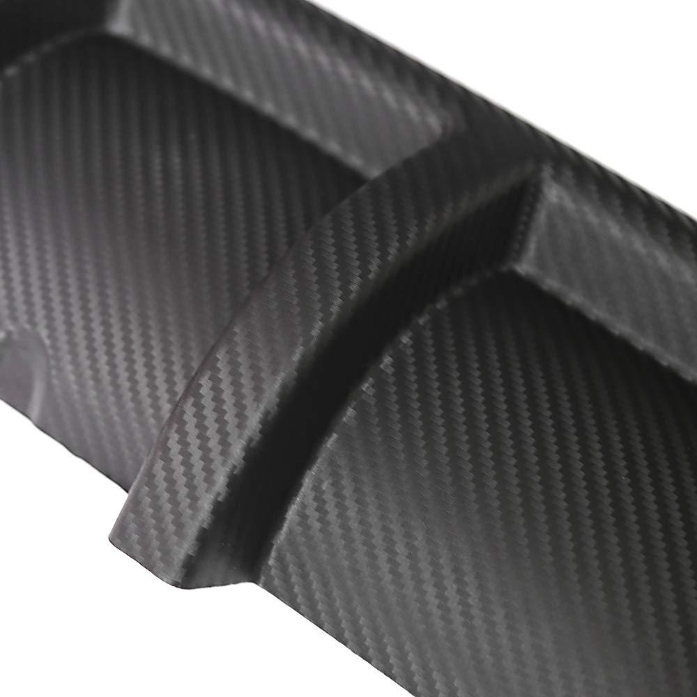 Ocamo Diffusore paraurti Posteriore Auto diffusore paraurti ABS per carrozzeria Posteriore Posteriore Universale da 67 cm Fibra di Carbonio #B