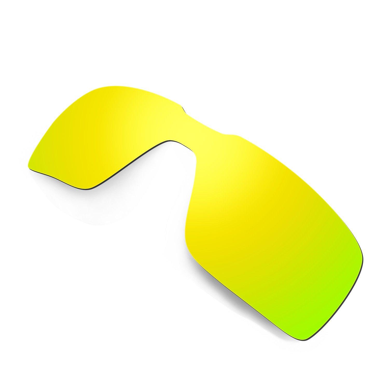 07dc9ac999e5f Amazon.com  Hkuco Mens Replacement Lenses For Oakley Probation Sunglasses  24K Gold Polarized  Clothing