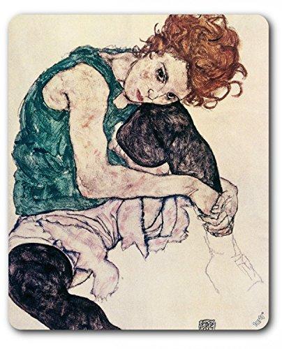 Egon Schiele - La Moglie Dell'Artista, Donna Seduta, 1917 Tappetino per Mouse (23 x 19cm) 1art1®