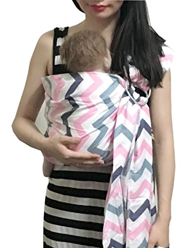 ng Sling Carrier Wrap | Extral Soft Lightweight Cotton Baby Slings for Infant, Toddler, Newborn and Kids | Great Gift, Lightly Padded Adjustable Nursing Cover Color Wave ()