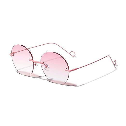 Gafas de Sol Rosas Redondas Transparentes para Mujer Mens ...
