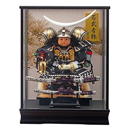 五月人形 ケース入り 子供大将 伊達 銀 ガラスケース 幅38cm [fn-23] 端午の節句 B07MYTGH91