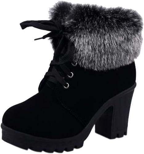 Women/'s High Heel Lace Up Ankle Boots Zipper Buckle Platform Shoes Fashion