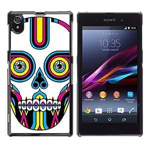 YOYOSHOP [Colorful Sugar Skull Tattoo] Sony Xperia Z1 L39h Case