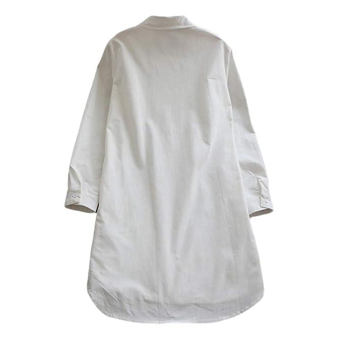 7230c9f50c74 Kleider Blusen Tuniken für Damen Shirt Hemdkleid T-Shirt Kleid Langarmkleid  Strandkleid Lose Einfache Einfarbig MiniKleid Boho Spitze Blumenkleid  Sportswear ...
