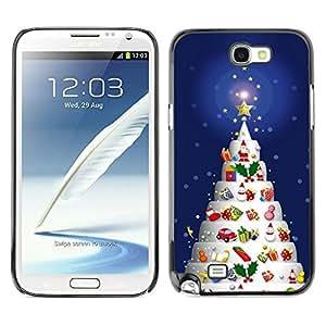 YOYO Slim PC / Aluminium Case Cover Armor Shell Portection //Christmas Holiday Decorated Tree 1151 //Samsung Note 2