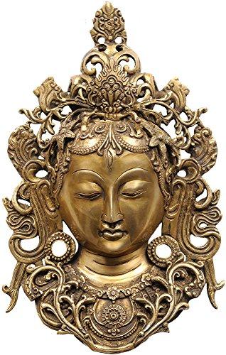 Tara Brass Statue - Wall Hanging Tara Mask - Brass Statue