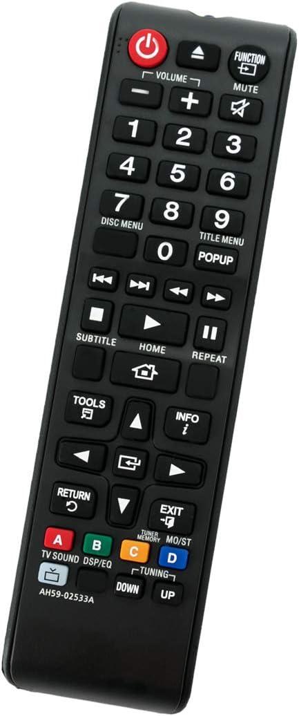 ALLIMITY AH59-02533A Reemplazo de Mando a Distancia para Samsung Home Theater System HT-H5530 HT-F4500 HT-J4100 HT-J5500W HT-J5500/ZA HT-H5500W HT-H4530 HT-H5500W/ZA HT-J4500 HT-JM41 HT-H4500