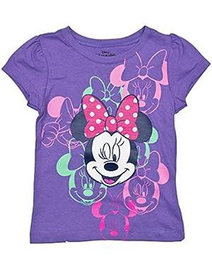Little Girls' Minnie Mouse Toddler Short Sleeve Tee Shirt
