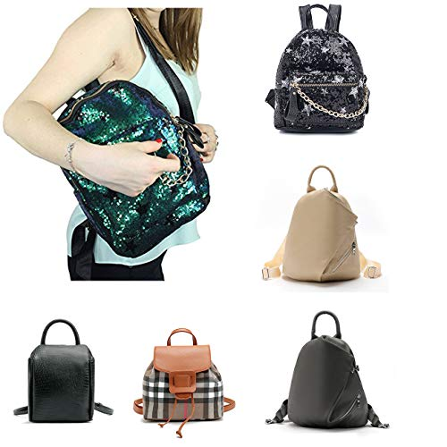 PU Bling Backpack for Leather 802 Women Di School lusso black Girls Student Sequin Rucksack nFfgqYg1