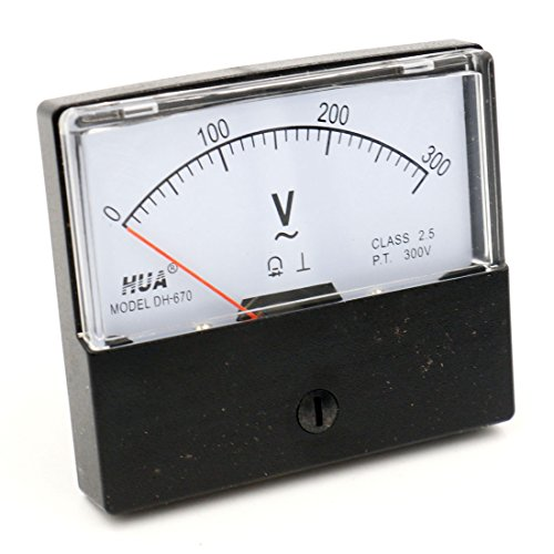 Hot Baomain Plastic Housing AC 0-300V Rectangle Volt Analog Panel Meter DH-670 hot sale