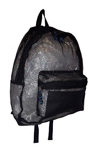 101 BEACH Large Black Mesh BackPack (Blank - - Backpacks Custom Mesh