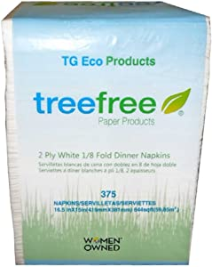 Green2 Tree Free Dinner Napkins, 8 Count
