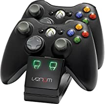 Venom Xbox 360 Twin Docking Station with 2 x Rechargeable Battery Packs: Black (Xbox 360)