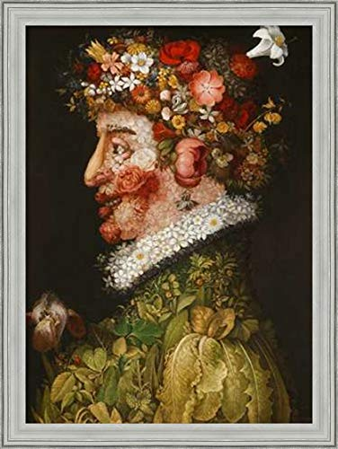 - Canvas Art Framed 'Spring' by Giuseppe Arcimboldo: Outer Size 23 x 31