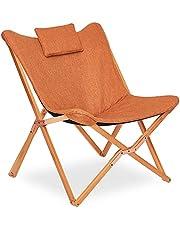 Fjärilsstol bekväm hopfällbar stol modern hopfällbar lounge-sits soffa fåtölj bekväm vilstol bärbar avkoppling för trädgård uteplats camping med avtagbar kudde massiv träram