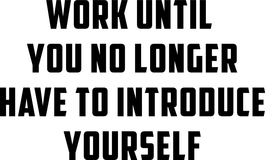 Wall Art Vinyl Decal Inspirational Life Quotes - Work Until You No Longer Have to Introduce Yourself - 23'' x 38'' Vinyl Sticker Decals Wall Decor - Motivational Business Office Wall Art by Pulse Vinyl (Image #4)