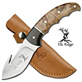 New Elk Ridge 8. 5″ Full Tang Gut Hook Hunting Skinning ProTactical'US – Limited Edition – Elite Knife with Sharp Blade w/ Sheath