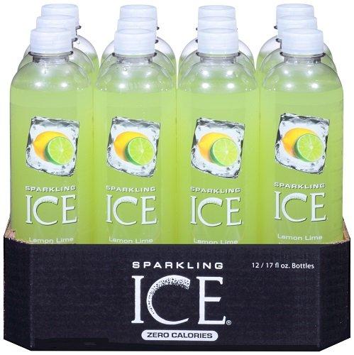 Sparkling Ice Lemon Lime 17 Ounce Bottles (Pack of 12)
