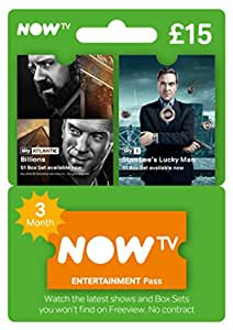 3 Month Now TV Entertainment UK Pass