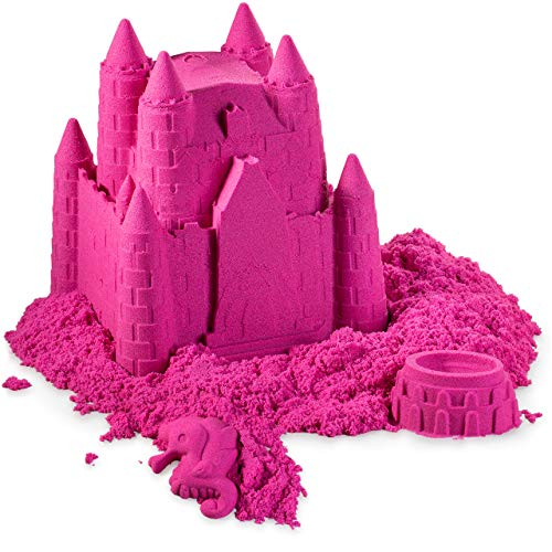 (walla Play Sand (5 lbs.) | Pink Play Sand for Kids | Great Kinetic Sensory Toy for Creating Fun, Moldable Sand Art & Work On Fine Motor Skills | Bring The Beach to Your Home with Mess-Free Magic Sand)