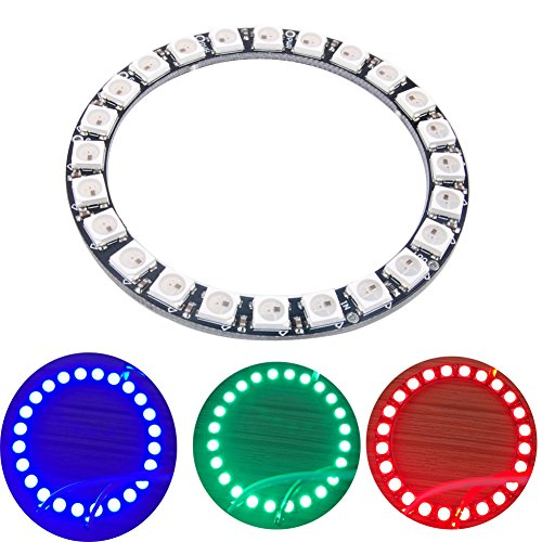 24 X WS2812 WS2812B 5050 RGB LED Ring Lamp Light 24 Bits for Arduino Raspberry Pi