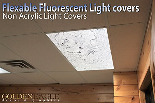 Gray Marble 2 - 2ft x 4ft Drop Ceiling Fluorescent Decorative Ceiling Light Cover Skylight Film