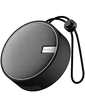 INSMY Portable Shower Bluetooth Speaker, IPX7 Waterproof Wireless Ourdoor Speaker with HD Sound, Support