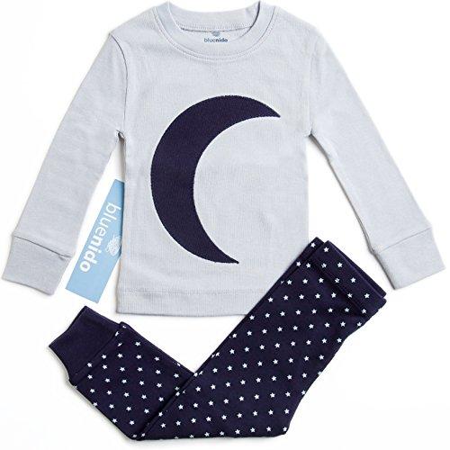 100-cotton-moon-boys-girls-2-piece-pajama-set-size-12m-7y-2-free-gifts-grey-navy-18-months