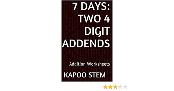 Amazon.com: 7 Addition Worksheets with Two 4-Digit Addends: Math ...