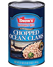 BUMBLE BEE SNOW'S Ocean Chopped Clams, Gluten Free Food, High Protein, Bulk, 51 Ounce Can