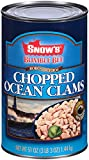 BUMBLE BEE SNOW'S Ocean Chopped Clams, Gluten Free Food, High Protein, Bulk, 51 Ounce Can