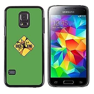 // PHONE CASE GIFT // Duro Estuche protector PC Cáscara Plástico Carcasa Funda Hard Protective Case for Samsung Galaxy S5 Mini, SM-G800 / Duck Xing - Funny /