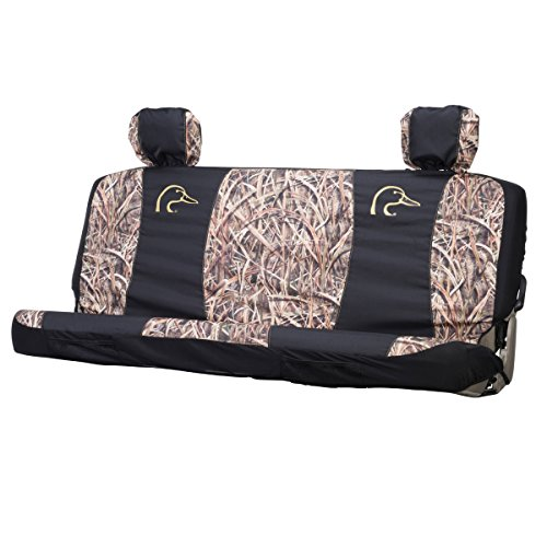 Ducks Unlimited Mid-Size Bench Seat Cover (Mossy Oak Shadow Grass Blades Camo, Heavy-Duty Polyester, Sold Individually) (Boat Seat Covers Bench)