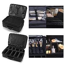 Hotrose® Professhional Large Space Makeup Brush Bag - Cosmetic Artist Organizer Kit - Handle Shoulder Bag - Travel Box