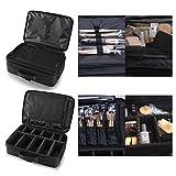 Hotrose Professhional Large Space Makeup Brush Bag - Cosmetic Artist Organizer Kit - Handle Shoulder Bag - Travel Box (Large)