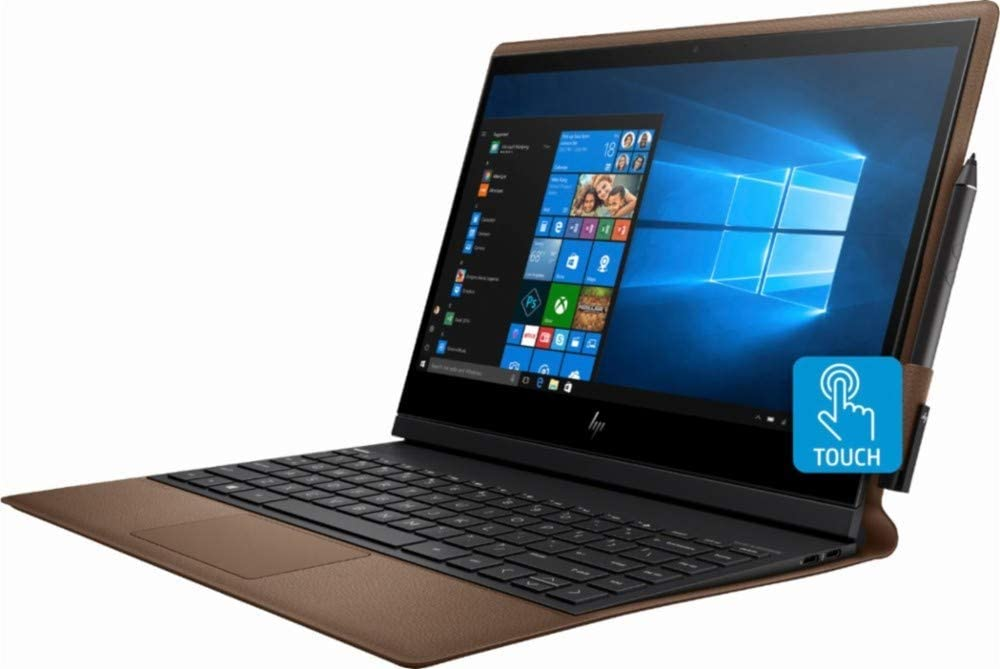 "HP - Spectre Folio Leather 2-in-1 13.3"" Touch-Screen Laptop - Intel Core i7 - 8GB Memory - 256GB Solid State Drive - Cognac Brown (Renewed)"