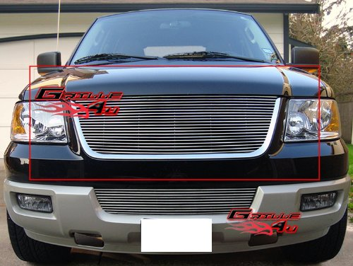 APS F85372A Polished Aluminum Billet Grille Replacement for select Ford Expedition (Expedition Chrome Grille)