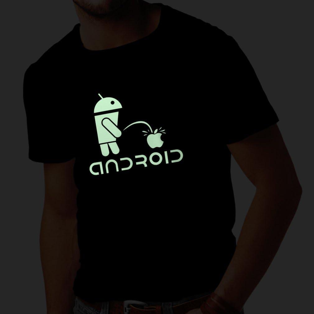 T-Shirt pour Hommes Le Robot dr/ôle et la Pomme Cadeaux Humoristiques Citations dr/ôles