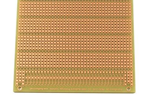 """Busboard PR3U Protoboard-6H-3U 6-Hole 1 PCB Stripboard, 3.94"""" W L x 1/16"""""""