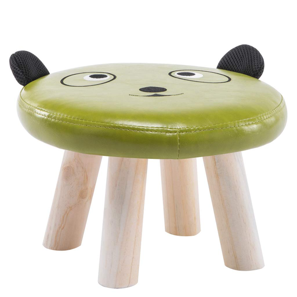 Taburete para bebés niños Animales Lindos Lindos Animales Madera Maciza Home Small Stool Cartoon Small Bench (Color : B) c3da60