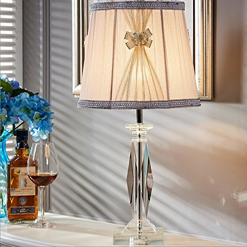 HH Simple Modern Luxury Living Room Bedroom Study Crystal Large Lamp by FJB (Image #4)