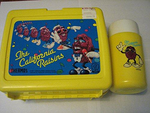 (Vintage Plastic California Raisins Lunchbox W/thermos)