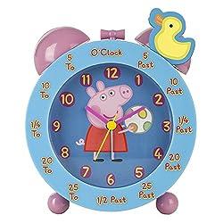 Peppa Pig Time Teacher Clock, Pink
