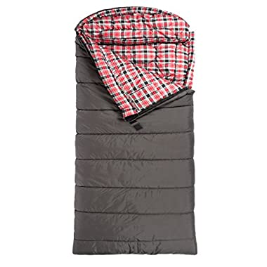 TETON Sports Celsius XXL -18C/0F Sleeping Bag; 0 Degree Sleeping Bag Great for Cold Weather Camping; Grey, Left Zip