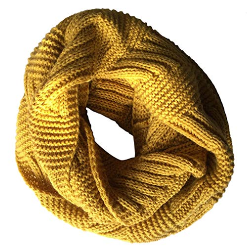 Knitted Scarves Wraps Cashmere Ring Scarf for Women