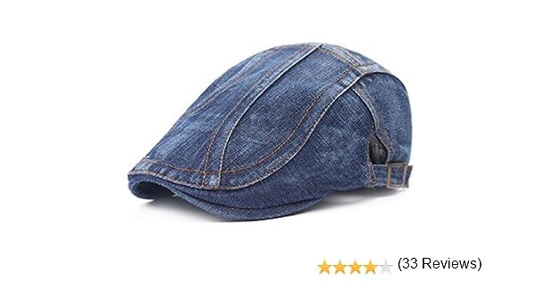 Leisial Sombrero de Boina Vaquera Gorra con Visera Casquillo Vintage  Sencilla Ocio al Aire Libre Sombrero del Sol Protector Solar para  Unisex-Adult e883d04378a