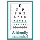 Appointment Reminder Postcards for Optometry. Customize Card Back with Practice Information. 4''x6'', Full-Color Front & Premium High Gloss UV Coating, Black Text on Back, Sturdy 14 Pt. (1000 cards)