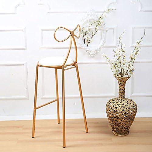 AJZGFChaise de salle à manger, chaise de cuisine Tabourets de bar en fer nordique, chaises simples et décontractées, tabourets hauts. (Size : B)